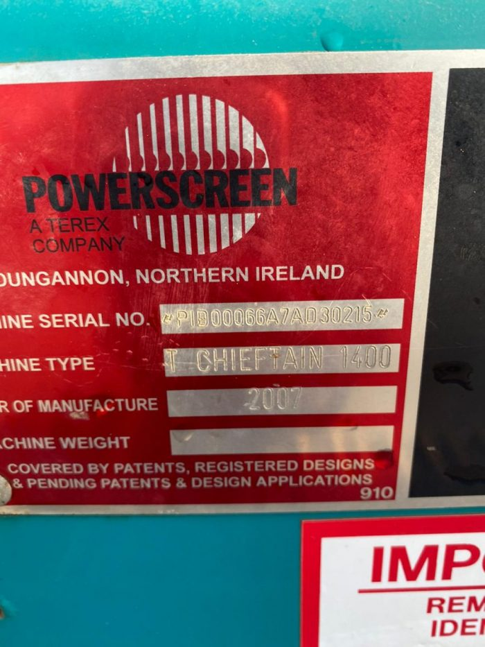 Powerscreen Turbo Chieftain